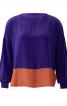 Блуза просторого крою із видовженою спинкою - фото 2