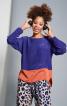 Блуза просторого крою із видовженою спинкою - фото 1
