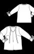 Блуза расклешенного силуэта с контрастными деталями - фото 3