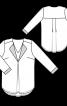 Блуза просторого крою з подвійним ефектом - фото 3
