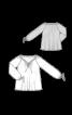 Блуза широкого крою з рукавами реглан - фото 3