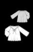Блуза просторого крою з широкими рукавами реглан - фото 3