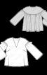 Блуза широкого крою з круглою кокеткою на спинці - фото 3