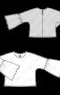 Блузка простора з широкими оборками на рукавах - фото 3