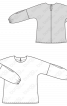 Блузка простора з круглим вирізом горловини - фото 3