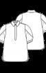 Блуза вільного крою з пишними рукавами - фото 3