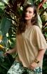 Блуза просторого крою замшева - фото 1