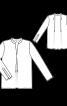 Блузка прямого крою з V-подібним вирізом - фото 3