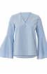 Блузка з V-подібною горловиною і воланами - фото 2