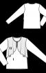 Блузка прямого кроя с отлетными деталями - фото 3