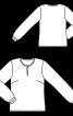 Блузка простого крою з вирізом-крапелькою - фото 3