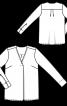 Блузка прямого крою з однобічною складкою - фото 3