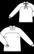 Блузка прямого крою з оксамитовим бантом - фото 3