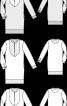 Блуза прямого крою з пластроном і коміром-стойкою - фото 3