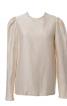 Блуза прямого крою з призбореними рукавами - фото 2