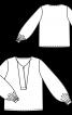 Блуза простора з об'ємними рукавами - фото 3