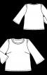 Блузка простого крою з призбореними по окатах рукавами - фото 3
