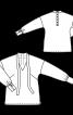 Блуза із застібкою поло на спинці - фото 3