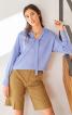Блуза із застібкою поло на спинці - фото 1