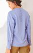 Блуза із застібкою поло на спинці - фото 4