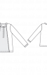 Блуза із довгою застібкою поло - фото 3