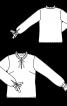 Блузка прямого крою з оборками і зав'язками - фото 3