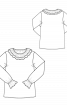 Блузка прямого кроя с воротником-оборкой в стиле Celine - фото 3