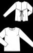 Блуза прямого силуэта с отлетной деталью - фото 3