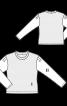 Пуловер із рукавами з попліну - фото 3