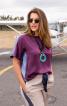 Блуза прямого крою в стилі колор-блокінг - фото 1