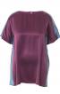 Блуза прямого крою в стилі колор-блокінг - фото 2