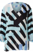 Блуза просторого крою з кокеткою на спинці - фото 2