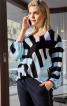 Блуза просторого крою з кокеткою на спинці - фото 1