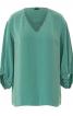 Блуза з V-подібним вирізом і пишними рукавами - фото 2