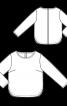 Пуловер прямого крою з декором на спинці - фото 3