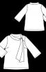 Туника с воротником-хомутом и расклешенными рукавами - фото 3