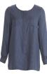 Блуза прямого крою без коміра - фото 2
