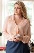 Блуза з лацканами, що драпіруються - фото 1