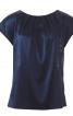 Блузка прямого крою з мереживною спинкою - фото 2