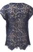 Блузка прямого крою з мереживною спинкою - фото 4