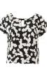Блузка прямого крою з V-подібним вирізом на спинці - фото 2