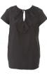 Блуза прямого крою з воланами - фото 2