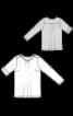 Блуза трикотажна з погонами і патами на рукавах - фото 3
