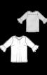 Блуза трикотажна з воланами на рукавах - фото 3