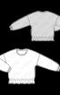 Пуловер свободного кроя с оборкой по низу - фото 3