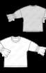 Пуловер свобдного кроя с оборками на рукавах - фото 3