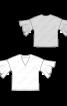 Блузка шелковая с V-образным вырезом  - фото 3