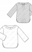 Блуза з фігурними планками на горловині - фото 3