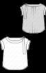 Блуза простого крою з приспущеними проймами - фото 3