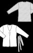 Пуловер прямого крою зі складкою на переді - фото 3